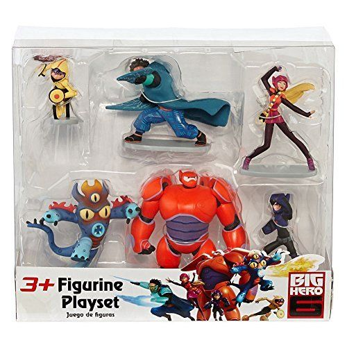 Disney Big Hero 6 Figure Set Baymax Yokai Wasabi No Ginger Fred Honey Lemon Go Go Tomago From Disney Big Hero 6 Party Ideas Big Hero Big Hero 6