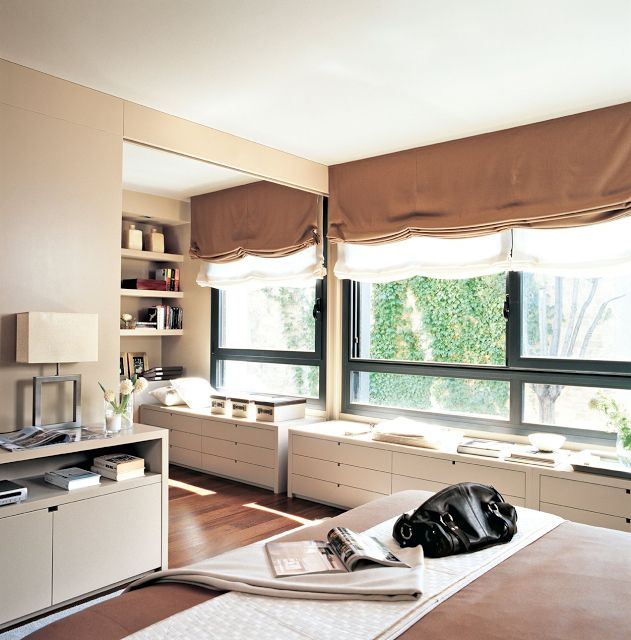 mueble bajo ventana cuarto pinterest
