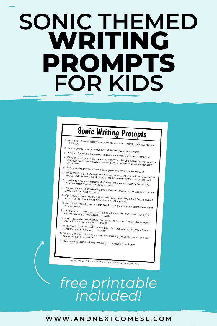 Grab This Free Printable Set Of Sonic Themed Writing Prompts For Kids They Re Perfect For Ki Writing Prompts For Kids Writing Prompts Free Activities For Kids [ 1102 x 735 Pixel ]
