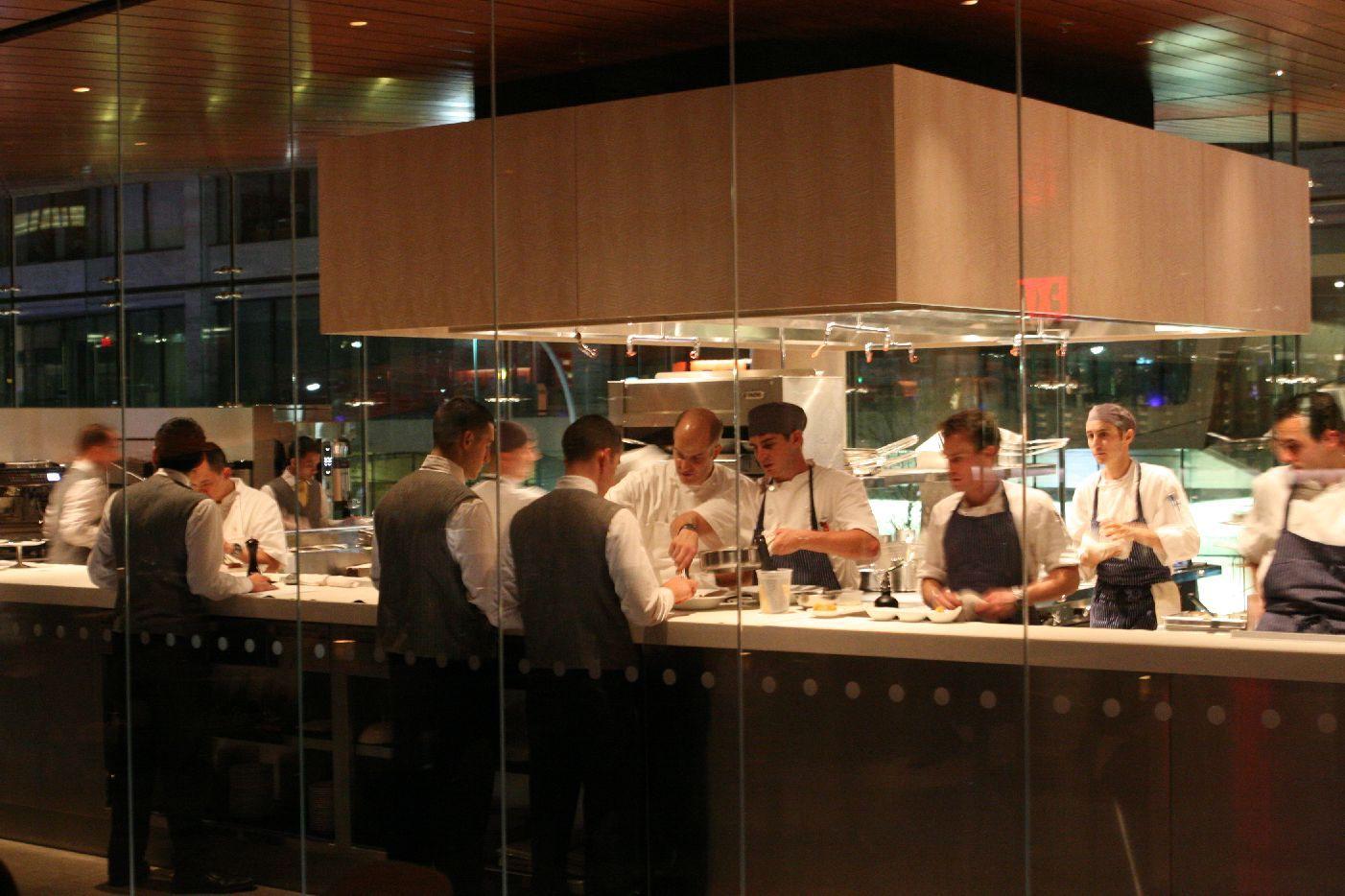 Semi Open Kitchen Service Area Glass Partitions Kitchen Design Open