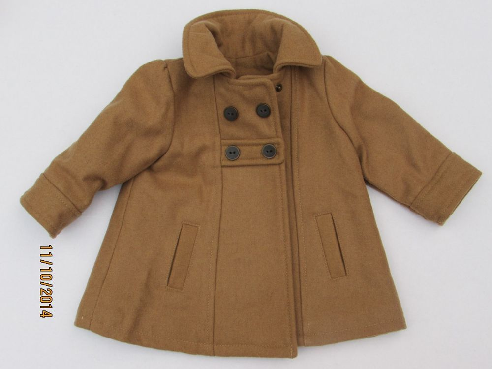 d2b00332ad2e Old Navy Toddler Girl Size 6-12 months Wool Peacoat Jacket Cute Love ...