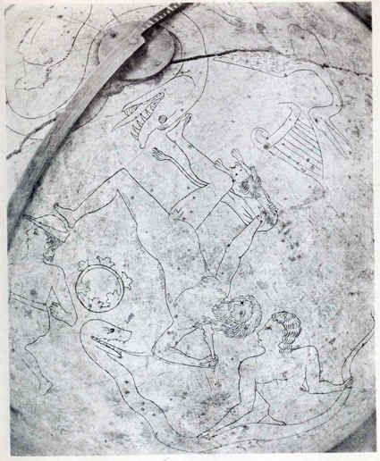 Bernkastel-Kues wooden celestial globe - made in Europe - XIV Century