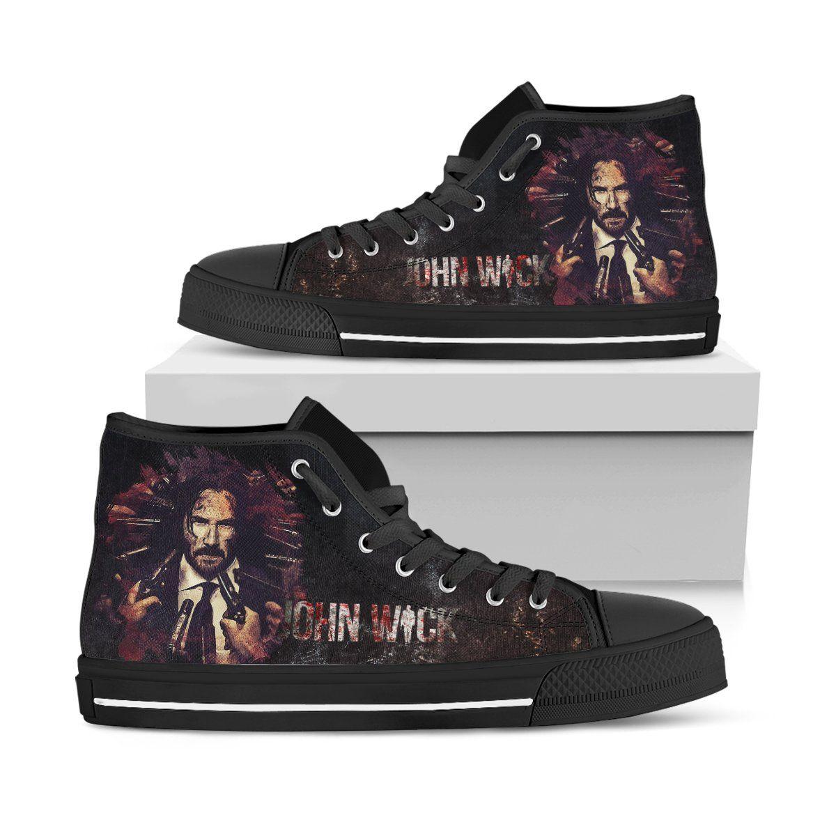 John Wick Art Shoes - Custom High Top
