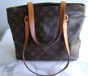 Authentic Louis Vuitton Monogram Cabas Pm Handbag Sd0072 Ebay