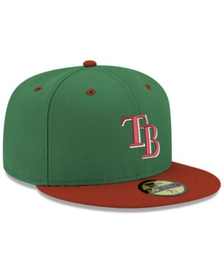 faec2b4284b6e New Era Tampa Bay Rays Green Red 59FIFTY Fitted Cap - Green 7 1 2 ...