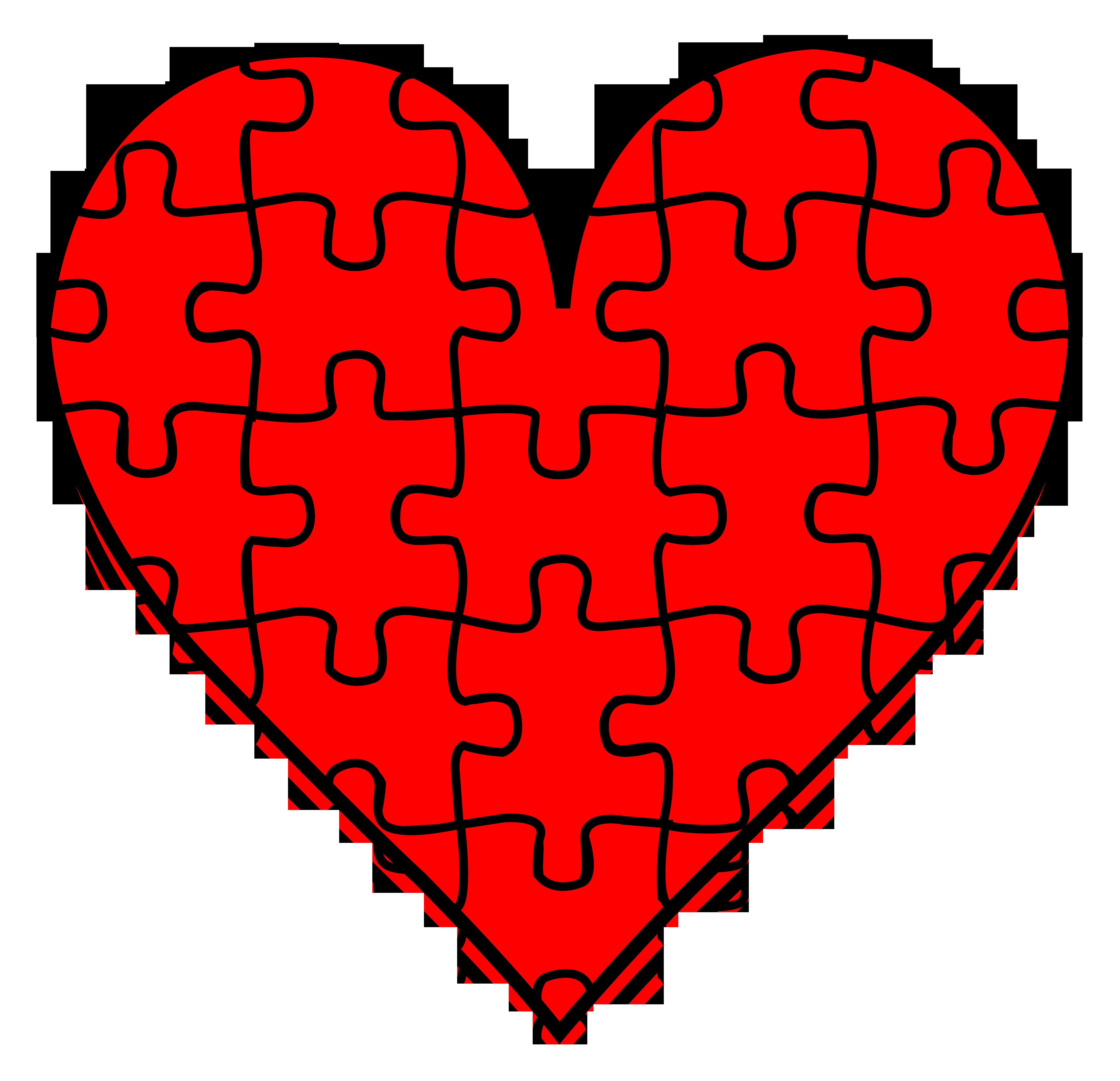 Heart Puzzle Piece Clip Art