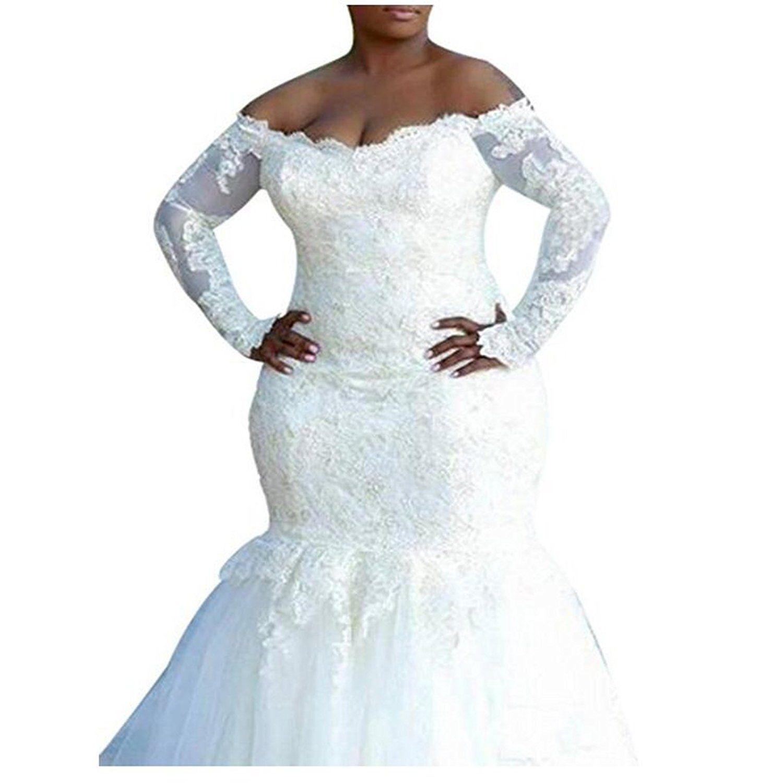 Fair Lady Dream Women 39 S Mermaid Wedding Dresses Plus Size Long Sleeve Bridal Long Sleeve Bridal Gown Long Sleeve Mermaid Wedding Dress Bridal Gowns Online [ 1500 x 1500 Pixel ]
