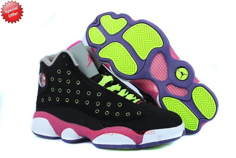 sneakers for cheap e38dd fd93d Very Cheap AIR JORDAN 13 RETRO Black Green Pink Venom Green KPO52A