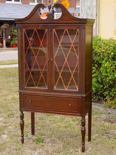 Federal Style Furniture Spartan Company American Walnut China Cabinet