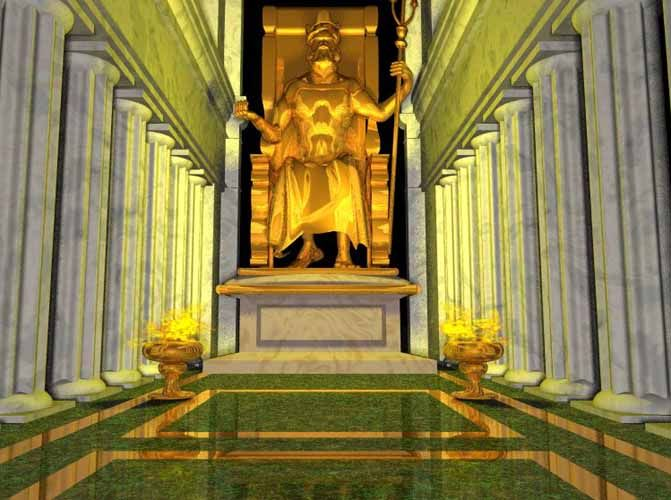 Statue Of Zeus At Olympia Wonders Of The World Ancient Greek