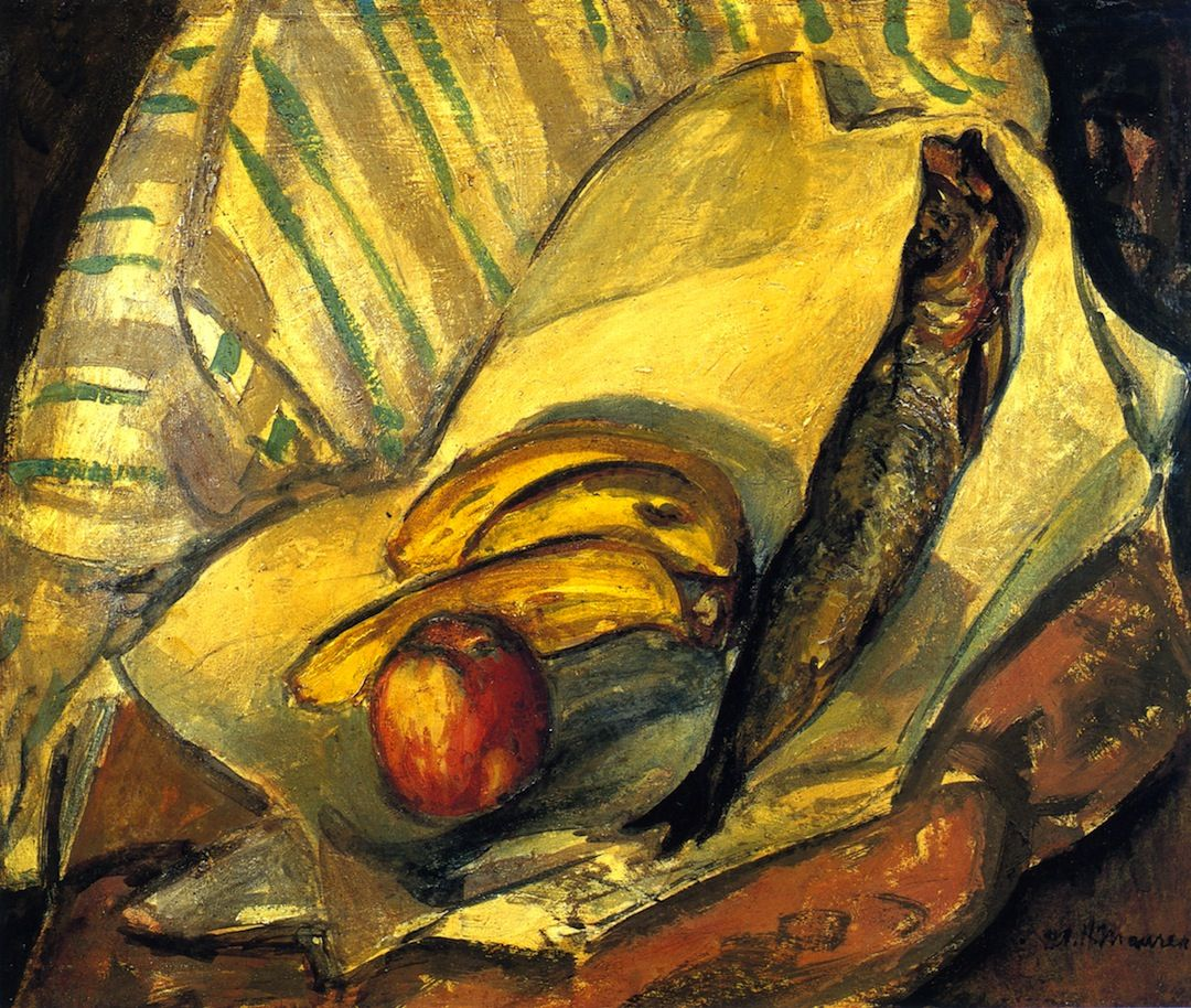 Still LIfe with Trout, Bananas and Apple, Alfred Henry Maurer - circa 1912-1914