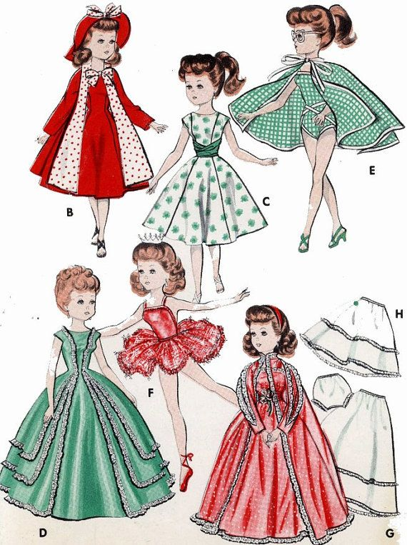 Vintage Doll Clothing PATTERN for 18\