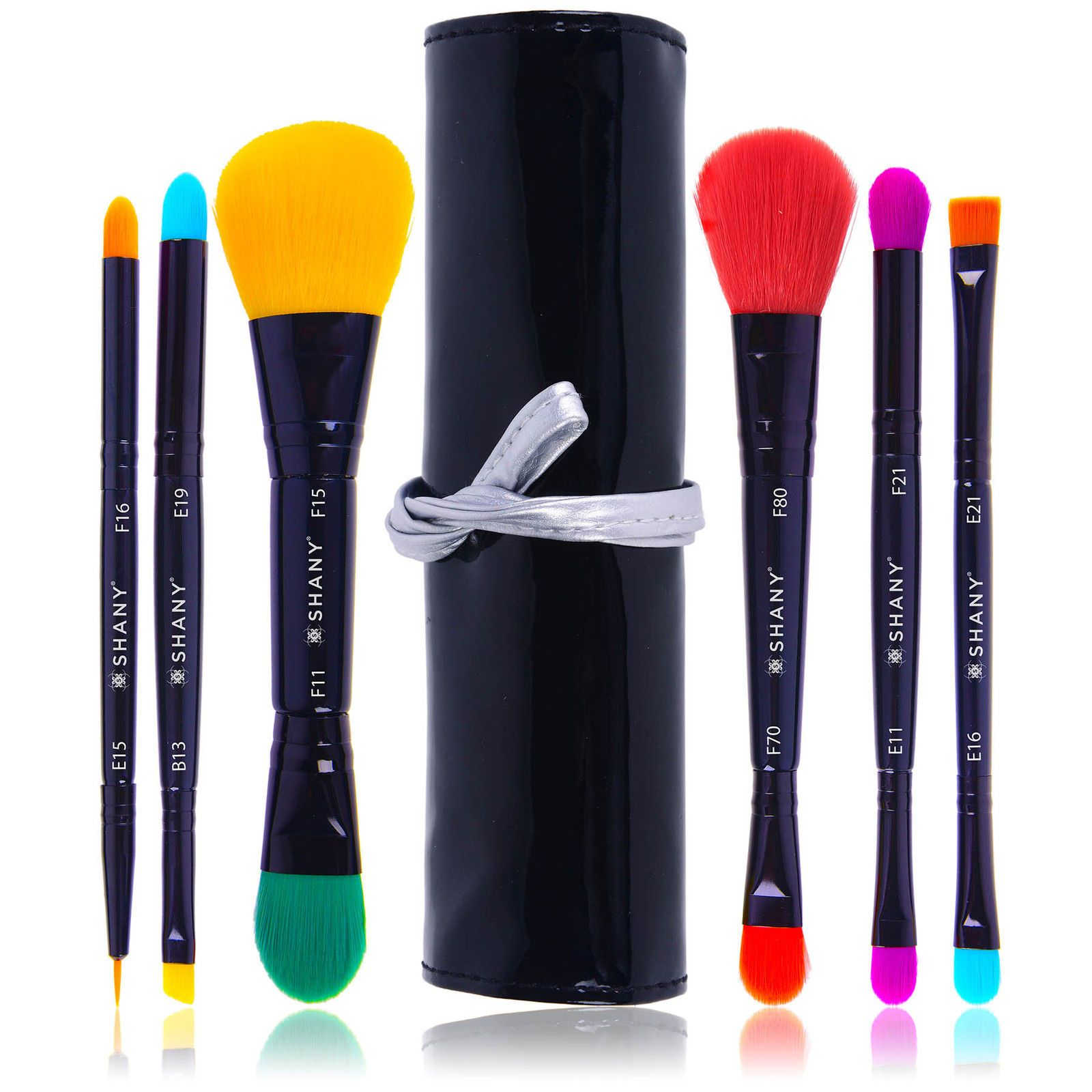 Details about SHANY LUNA 6 PC Double Sided Travel Brush