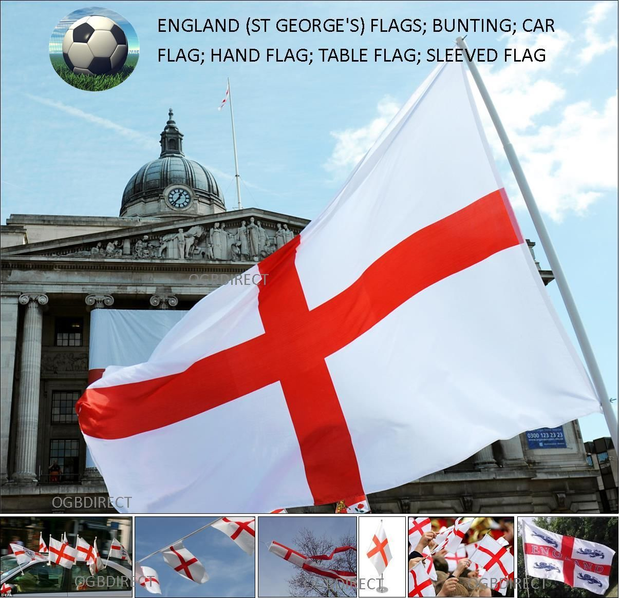 St George Car Flag England F.A