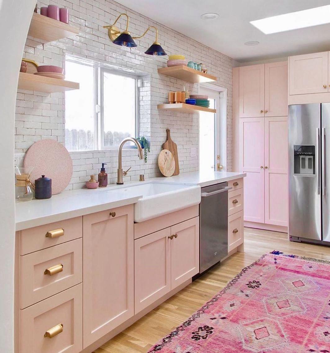 Pink Home Decor Kitchen Kitchen Renovation Pink Kitchen