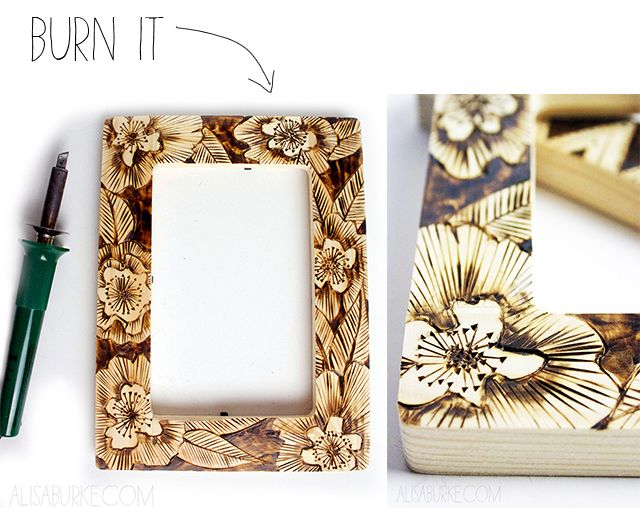 picture frames are one of my favorite things to transform they are affordable available wood burning - Wood Burning Picture Frame