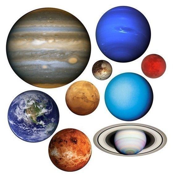 Planets Of Our Solar System Vinyl Wall Decal Set By WilsonGraphics 4500 Solar System Decals