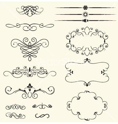 Vintage decorative swirls vector 512257 - by Ghenadie on VectorStock®
