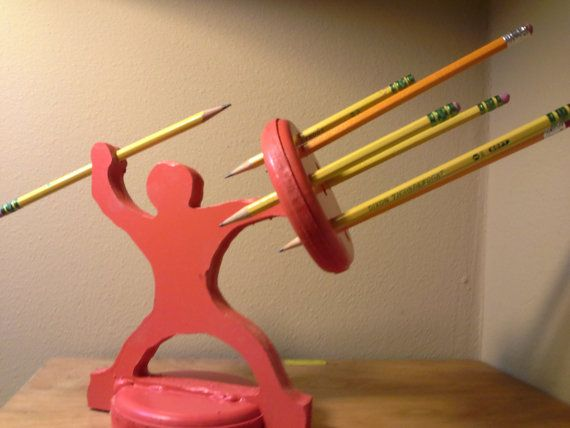 Pencil Holder Warrior The Most Awesome Pencil by BitterrootDSign2, $14.99