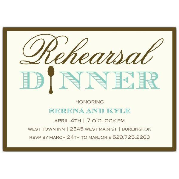 Simple Elegance Rehearsal Dinner Invitations
