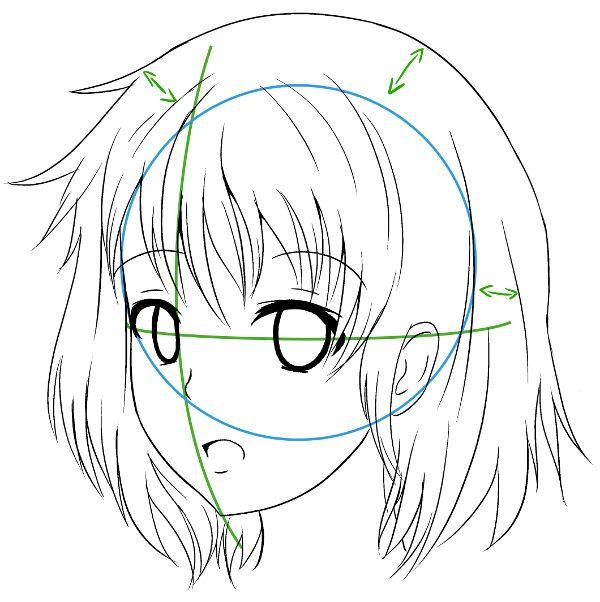 Dessin manga 3 4 - Dessin manga visage ...