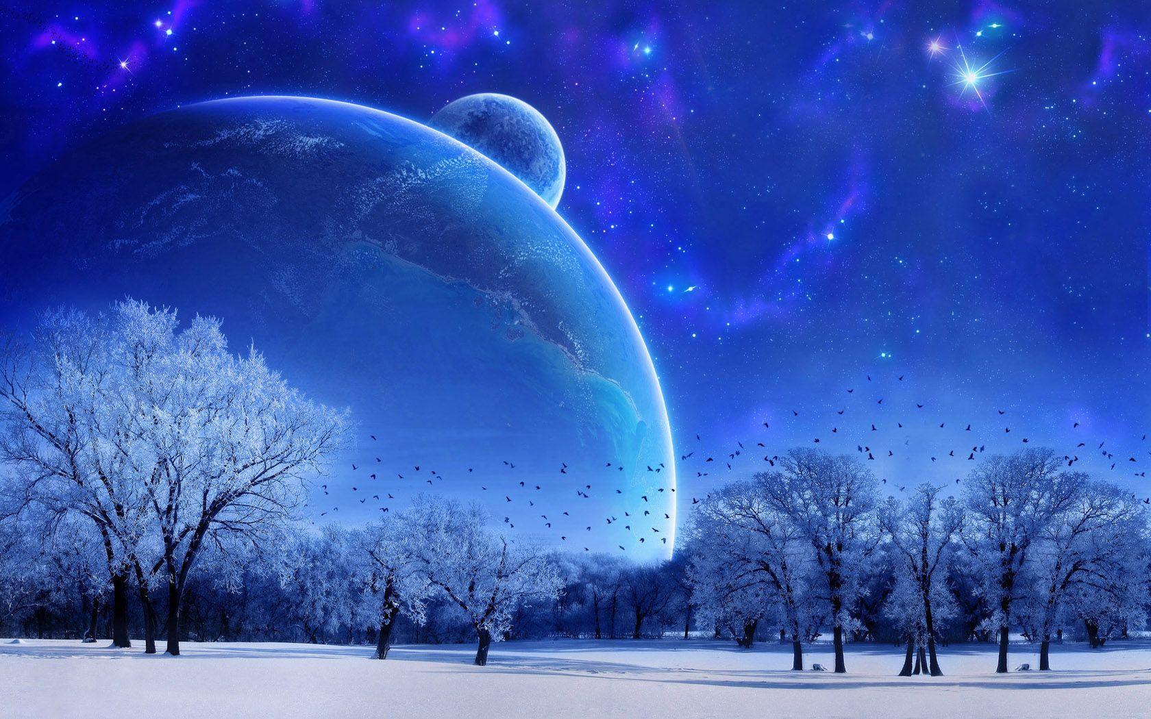 Http Www Pixelstalk Net Wp Content Uploads 2016 04 Lake Night Moon Mountains Wallpapers 1920x1080 Jpg Night Landscape Mountain Wallpaper Landscape