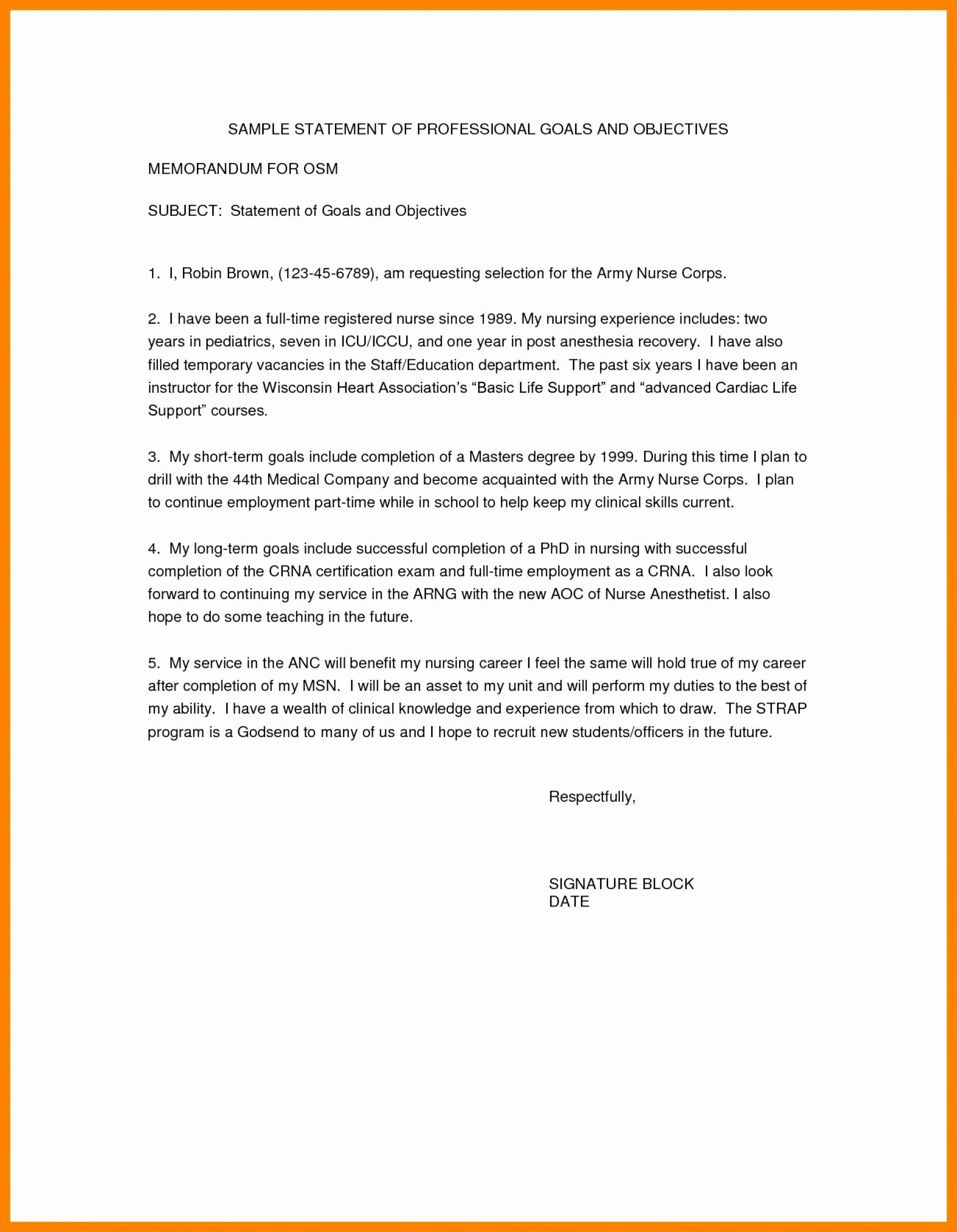 Goal Statement Sample Fresh 008 Essay Example Work And Objective Resume Examples