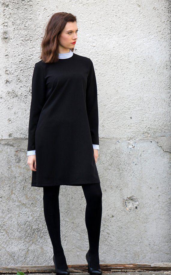 Plain Black Winter Dress T E S S A Products Pinterest Winter