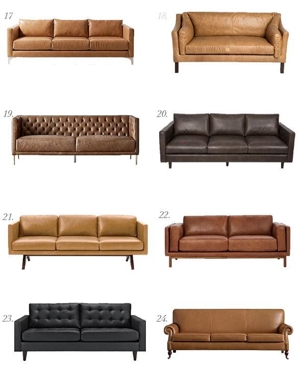 Leather Sofa Roundup  Juniper Home is part of Leather sofa bed - Last week we posted our orthodontist office reveal and we got a bunch of questions about the leather sofa we used in the space  This one was custom made from Monarch Sofas, but it got us thinking about all of the other amazing leather sofas readily available online! We are especially loving camel right now,