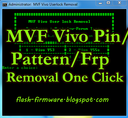 DownloadMVF Vivo User Lock Removal Tool Feature: Vivo