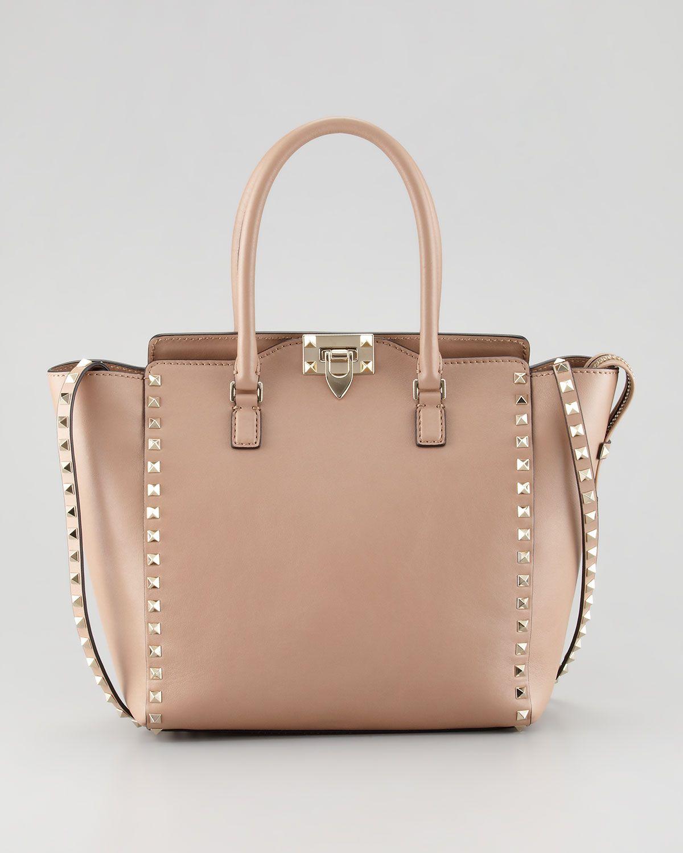 212a12f7301a Valentino Rockstud Double-Handle Shoulder Tote Bag