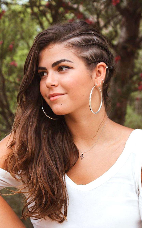 pinterest: deborahpraha ♥️ half side braided hair style