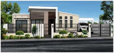 Lovely Zen Bungalow Type House Modern Bungalow House Design, Modern Houses,  Philippines, Zen,