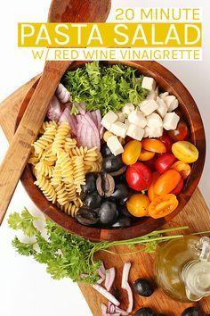 An Easy Vegan Pasta Salads Salad Dressings Pasta Salad