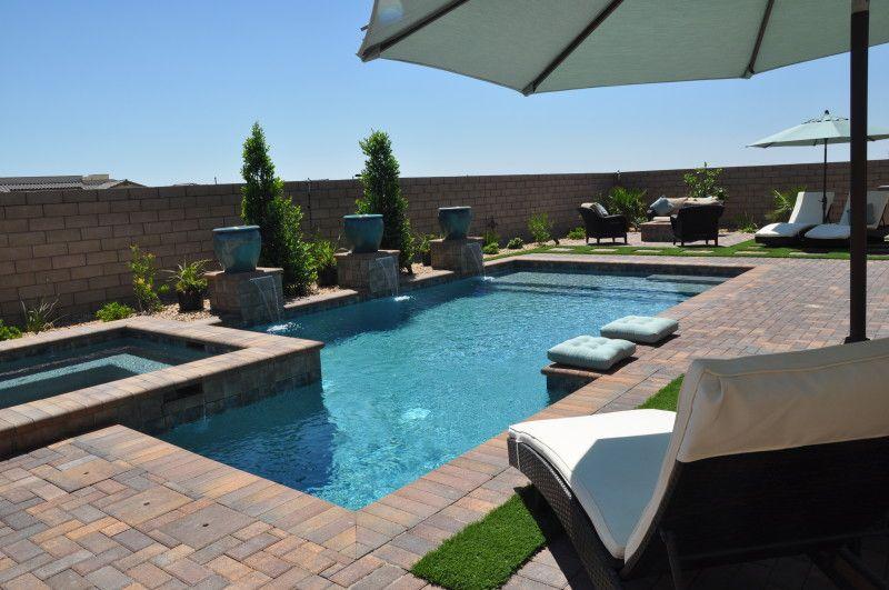 Swimming Pool Photo Gallery Edgewater Pools Las Vegas Custom Pools Spas Landscaping Water Featu Pool Photos Landscaping Water Feature Backyard Pool