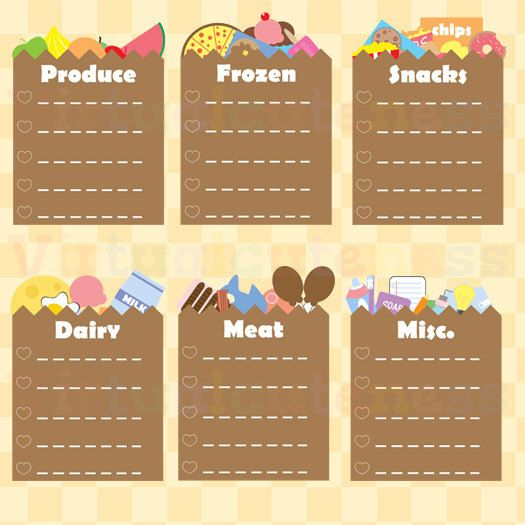 planner grocery list clipart shopping bag to do lists printable stickers planner scrapbook ec planner cute kawaii free commercial and personal use