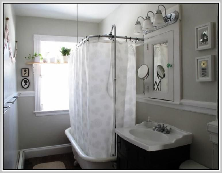 Image Of Clawfoot Tub Shower Conversion Kit Enclosure Bathroom