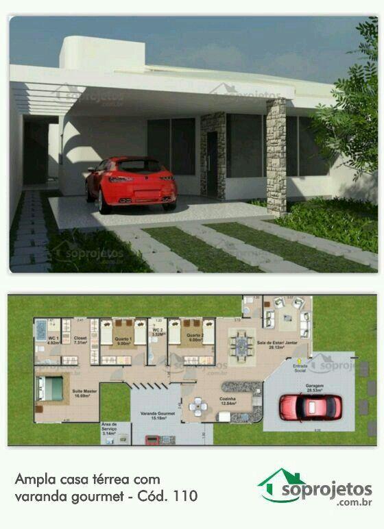 Côté Maison, Plans Maison, Appartements Studio, Maison Design, Conception  De Plan De Maison, Design Extérieur De Maison, Petites Maisons, Plans ...