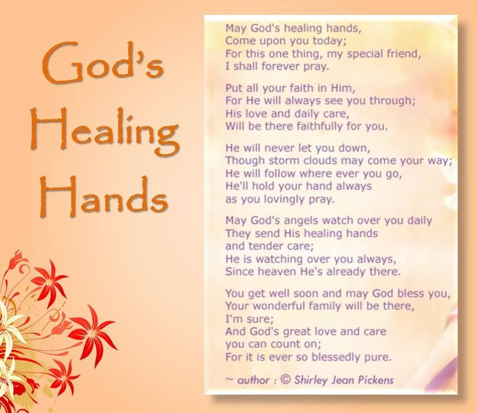 May God's healing hand touch you  | Mee | Healing hands