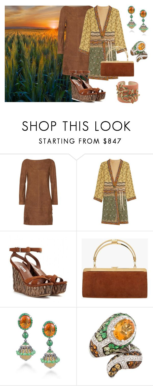 """Walking Through the Wheat"" by karen-galves on Polyvore featuring Vanessa Seward, Etro, Miu Miu, Balmain and John Hardy"