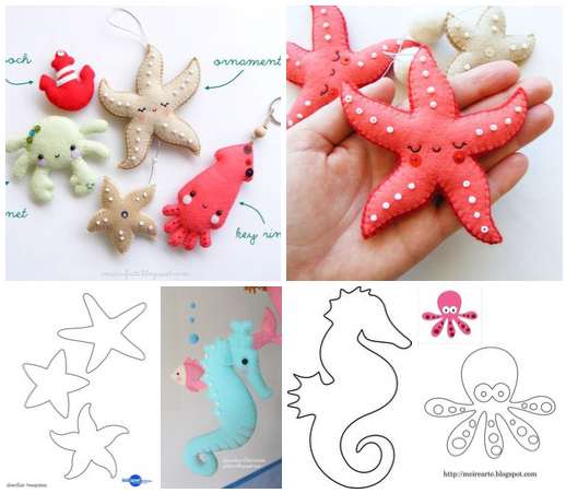Moldes Para Hacer Estrellas De Mar Ideas De Manualidades Felt Crafts Felt Doll Patterns Crafts