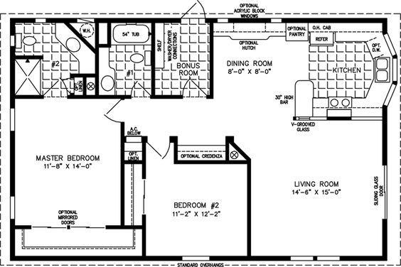 The Tnr 3411b Manufactured Home Floor Plan Jacobsen Homes Cottage Floor Plans Small Cottage Plans Cottage Plan
