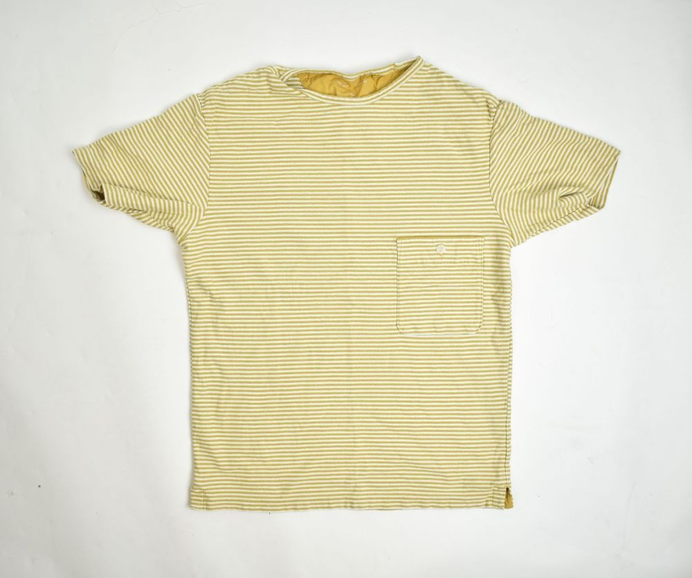 a2d36ab5f4 UNIQLO White & Yellow Striped T-Shirt With Breast Pocket Detail Size Medium  #fashion #clothing #shoes #accessories #mensclothing #shirts #ad (ebay link)