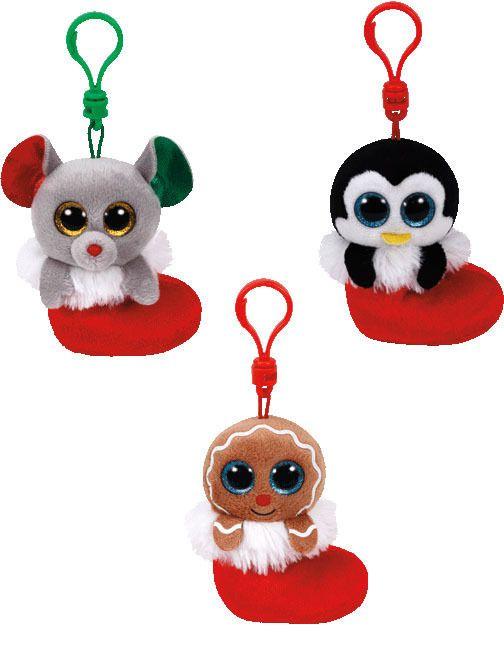 Ty Halloween Beanie Boo Clip On Keychain Plush Set 3 Toy Doll ...