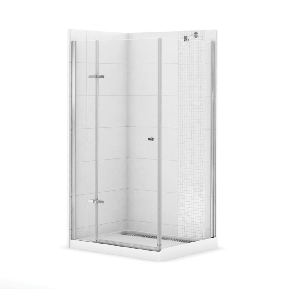 Urbano Ii Corner Fit 42 Inch X 34 Inch Rectangular Shower Stall