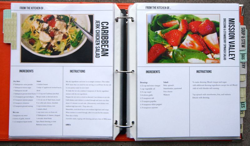 Homemade Recipe Book using Document Life Workshop Recipe Template Set by Megan Anderson