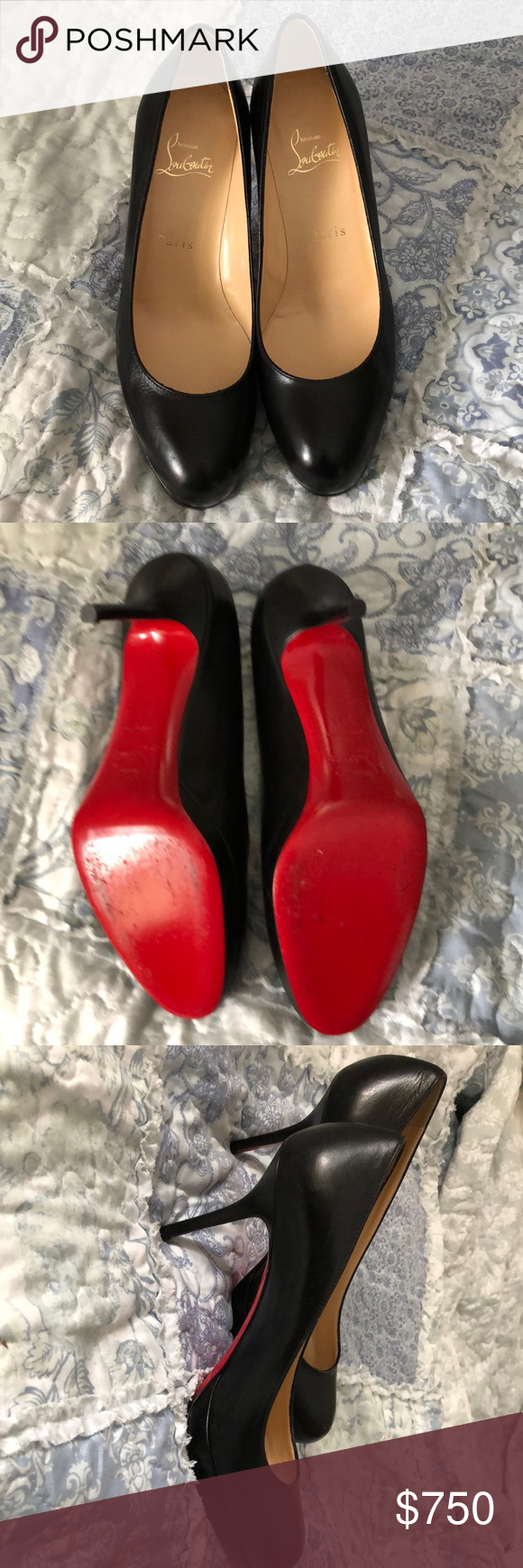 inch heel Christian Louboutin worn once