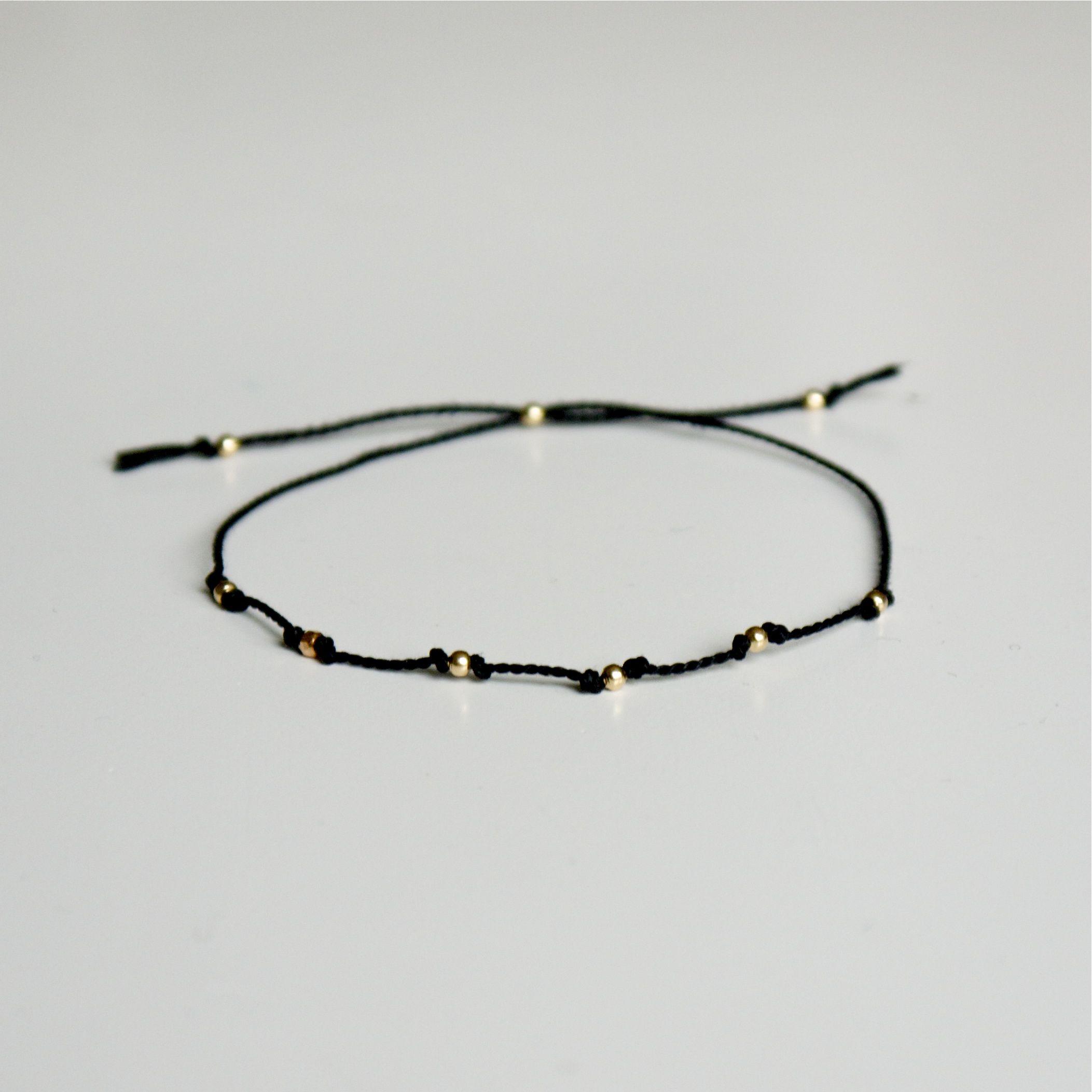 silke armbånd smykke med guld perler