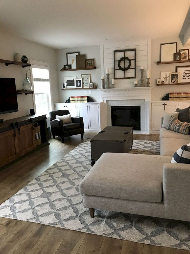 54+ Cozy Modern Farmhouse Living Room First Apartment Ideas images