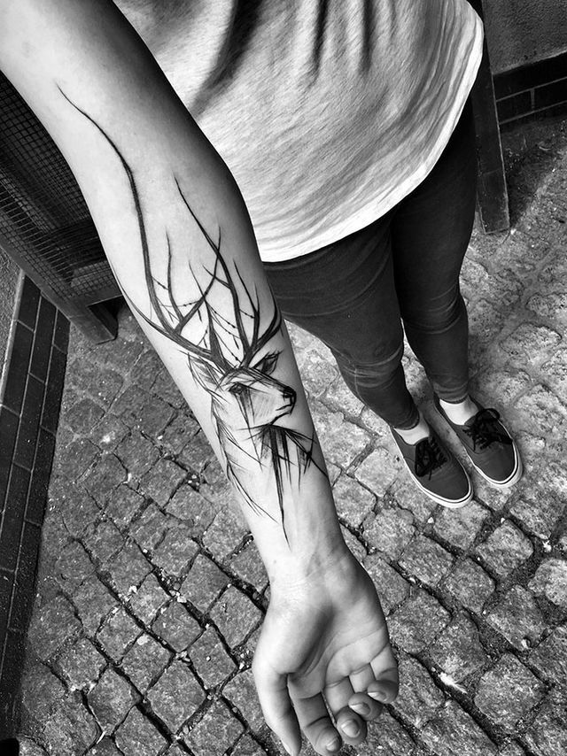 Take A Look At These Wild Sketch Tattoos Tatuajes, Ideas de